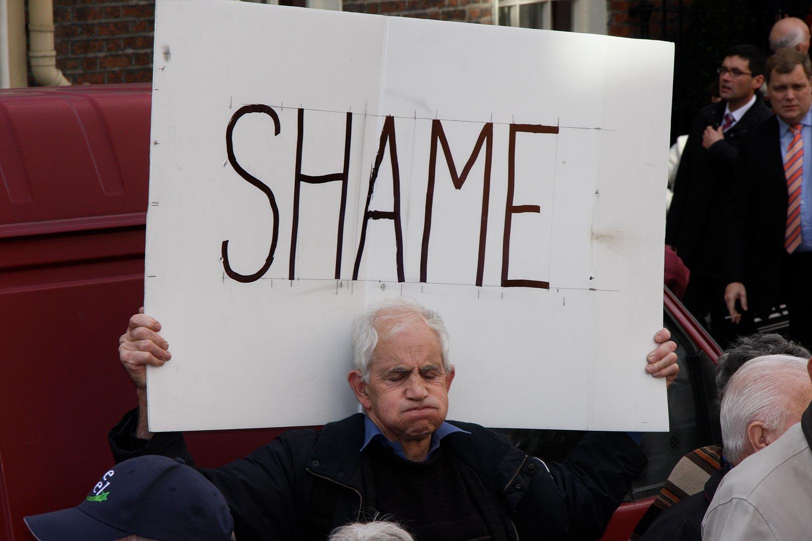 Shame Medical card protest Augustine o Donoghue