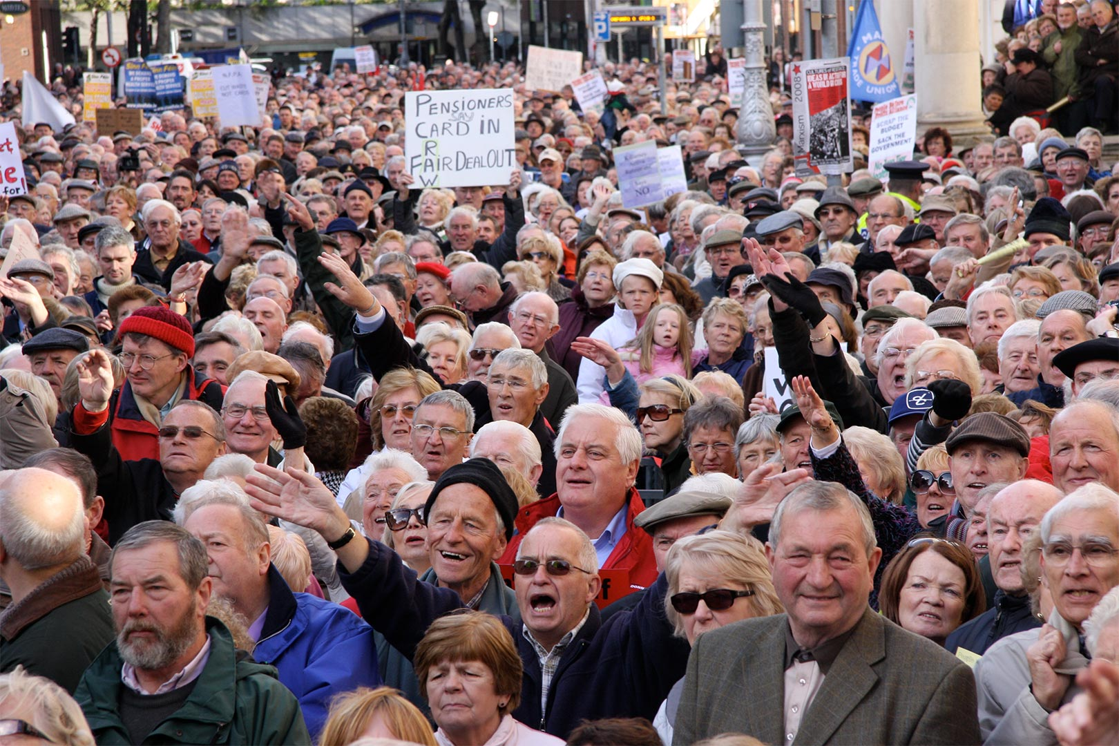 Crowd at medical card protest-Augustine O Donoghue